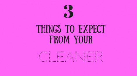 What To Expect From A Cleaner