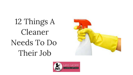 12 Things A Cleaner Needs To Do Their Job Well